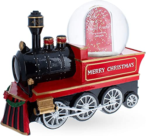 BestPysanky Cho Cho Train Picture Frame Music Snow Globe