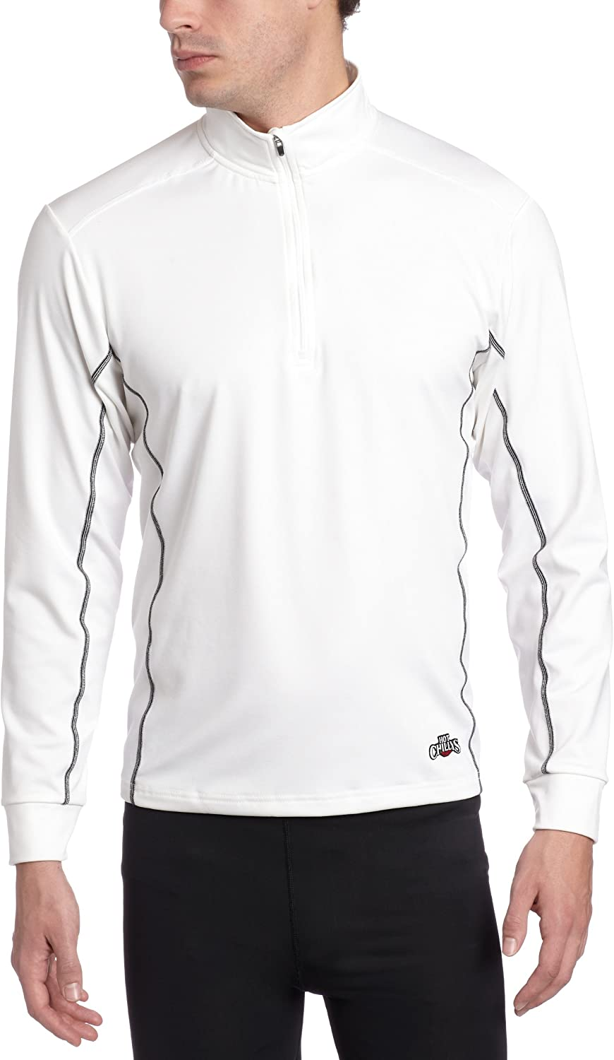 Hot Chillys Men's Mirco-Elite Zip-Tee Panel Popularity Chamois Inventory cleanup selling sale