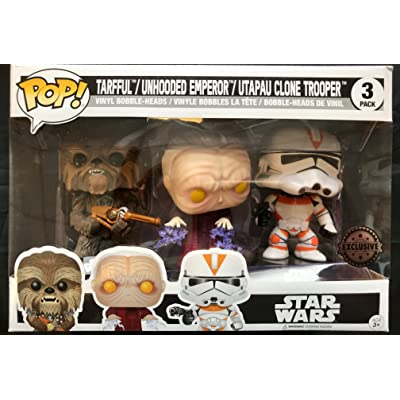 Funko Set 3 Figurines Pop. Star Wars Tarfful Unhooded Emperor Utapau Clone 2020 Fall Convention Exclusive: Toys & Games