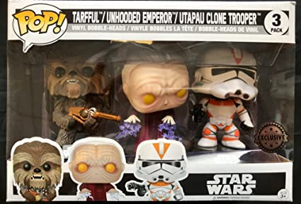 Set Of 3 Pop Star Wars Tarfful Unhooded Emperor Utapau Clone 2017 Fall Convention Exclusive Amazon Co Uk Toys Games