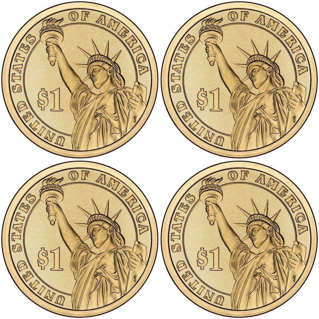 2015 D PRESIDENTIAL DOLLAR ROLL~Lyndon Johnson~Head//Tail