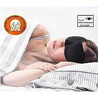 DALATO Premium 3D Schlafmaske inklusive Beutel und Ohrstöpsel, für Damen und Herren, 100% Augenfreiheit, für einen ruhigen und erholsamen Schlaf,