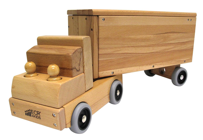 ecr4kids big rig solid hardwood transportation vehicle toy toy