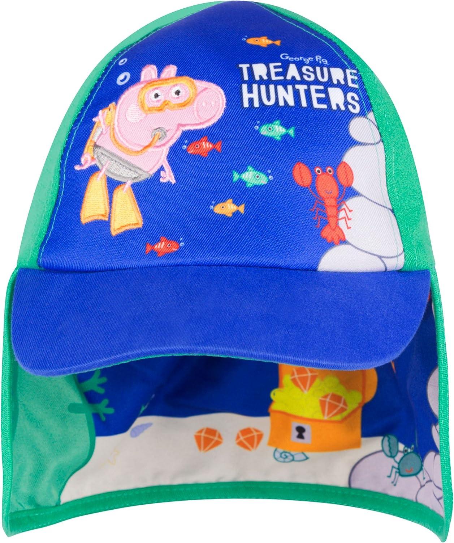 3-6 Years, Blue Peppa Pig Cap Boys Baseball Cap Summer Safari Hat Ages 1 to 6 Years