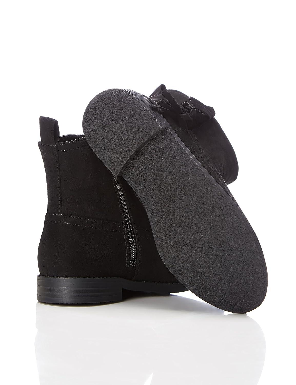 RED WAGON Mädchen Ankle Boots Stiefel mit Fransen, Schwarz (Black), 32 EU