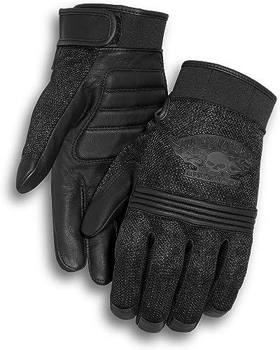Harley Davidson Men's Winged Skull Gloves