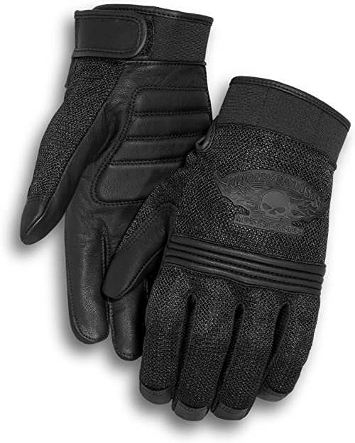 Harley Davidson Men's Winged Skull Gloves