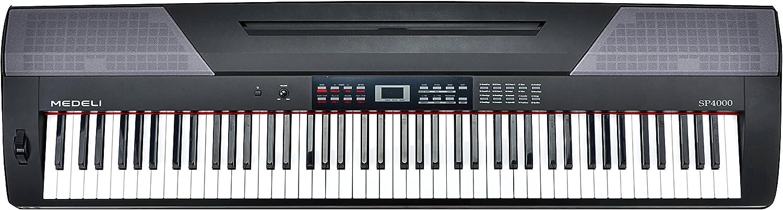 Medeli SP4000 - Piano Digital Portátil, 88 Teclas Acción ...