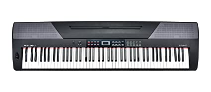 SP Medeli 4000 teclado electrónico con 88 teclas, negro