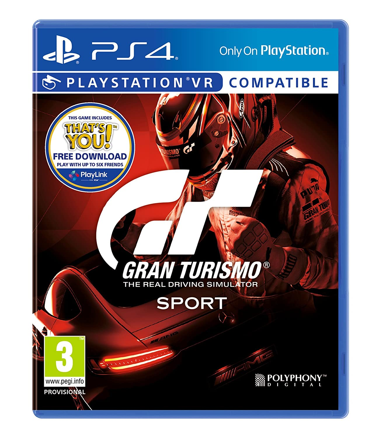 Sony Play Station Gran Turismo: Sport (Includes Free Download Of That's You)   Ps4 [Edizione: Regno Unito] by Playstation