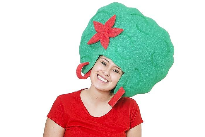 Sombrero de gomaespuma afro verde