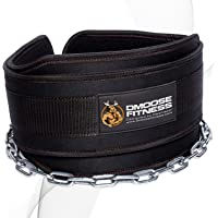 DMoose Fitness Neoprene Dip Belt for Weight Lifting, Pullups, Powerlifting, Crossfit, and Bodybuilding Workouts, Weight…