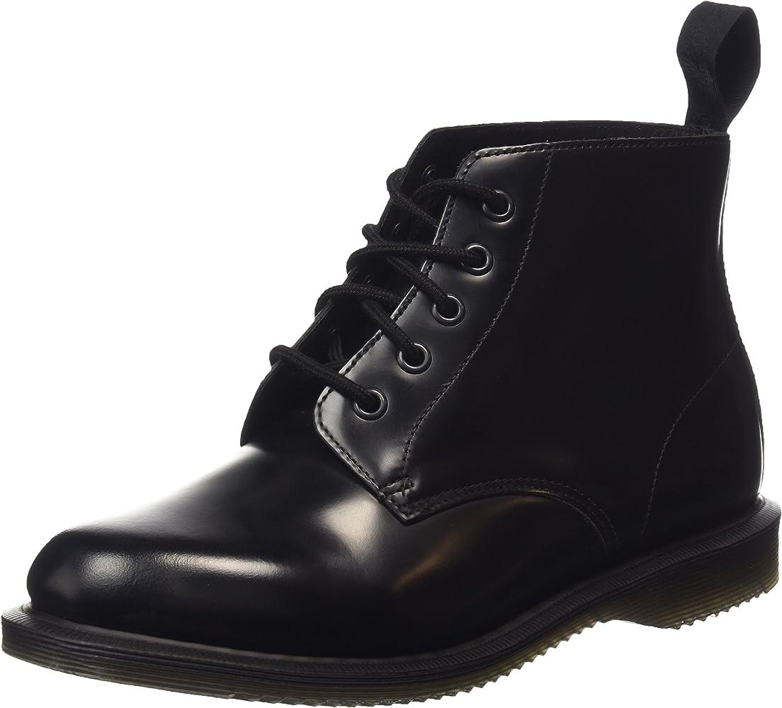 Emmeline Boot, Black Polished Smooth