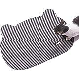 Non Slip Kitty Litter Mat, Corner Cat Head Pet Litter Box Mat, Small, Grey