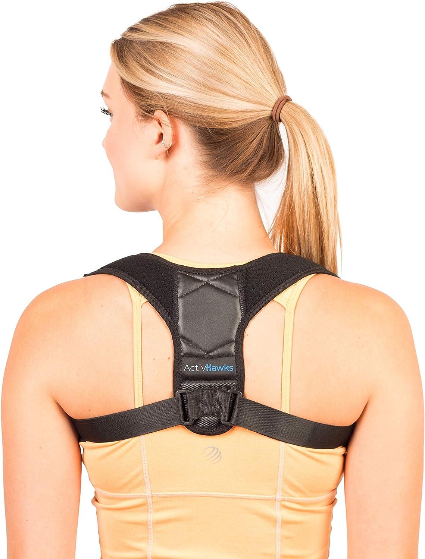 Corrector de Postura Espalda y Hombros Para Hombre y Mujer Talla Única - Faja para Dolor de Espalda - Chaleco Corrector de Postura Enderezador de Espalda Transpirable - Incluye eBook de Ejercic