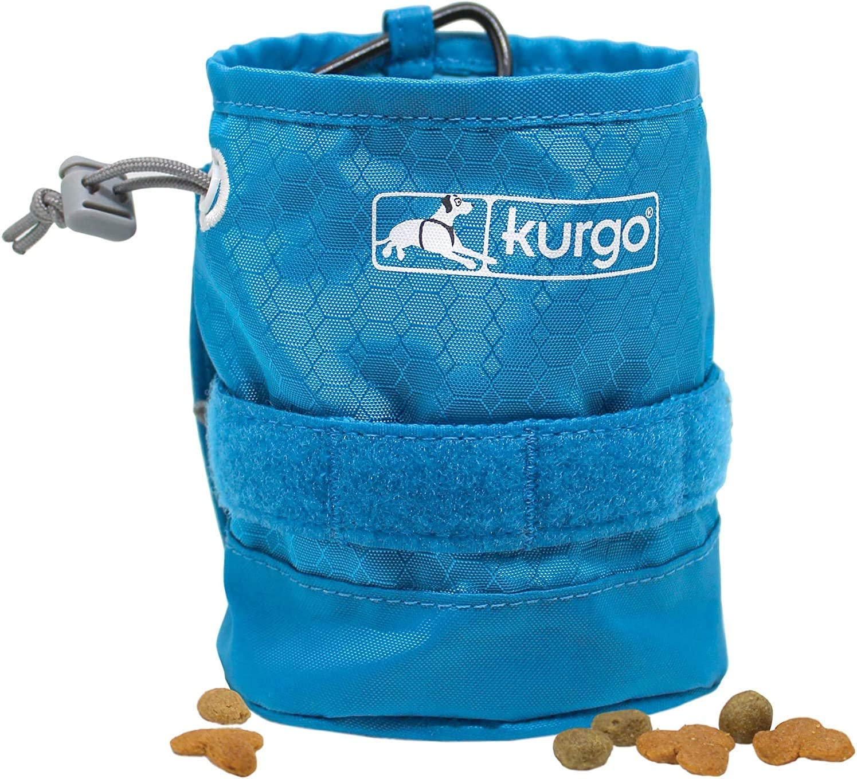 Kurgo Dog Treat Bag | Pet Treat Pouch | Detachable Pouch for Dogs | Molle Vest Harness Accessory | Beer Koozie | Rsg Yorm Bag (Treat Bag) …, Coastal Blue