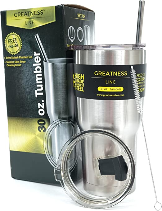 Cooler 16 oz Stainless Steel Insulated Tumbler 10 hr Cold 5 hr Hot