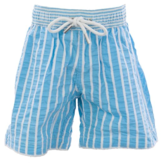 c7833ffdc0 Image Unavailable. Image not available for. Color: Naila Boy's Above Knee  Swim Trunks Sz 6 Years Blue/White