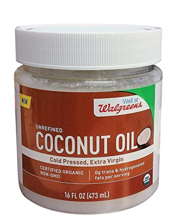 Amazoncom Walgreens Cold Pressed Extra Virgin Coconut Oil 16