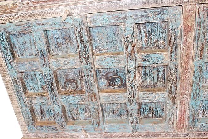 Mogul - Aparador de Puertas Antiguas, Estilo rústico, Color Azul Envejecido, Estilo Bohemio: Amazon.es: Juguetes y juegos