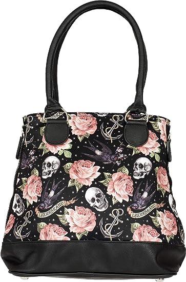 Tattoo Damen Brand Liquor Tasche Rose Anker Handbag Skull Ybgvf67y