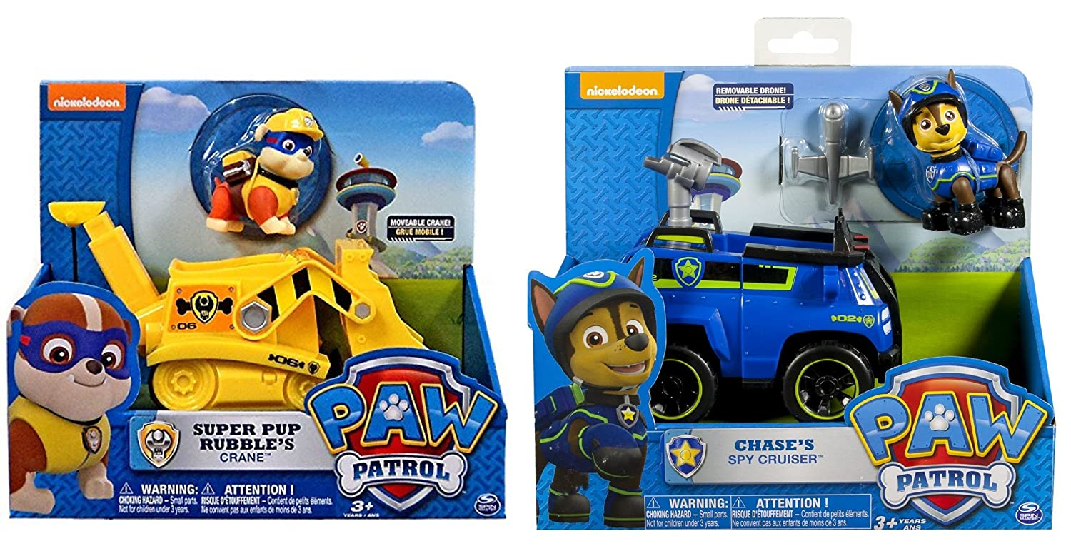 Coloring Pages Paw Patrol Rubble : Amazon paw patrol pup vehicle bundle of characters super