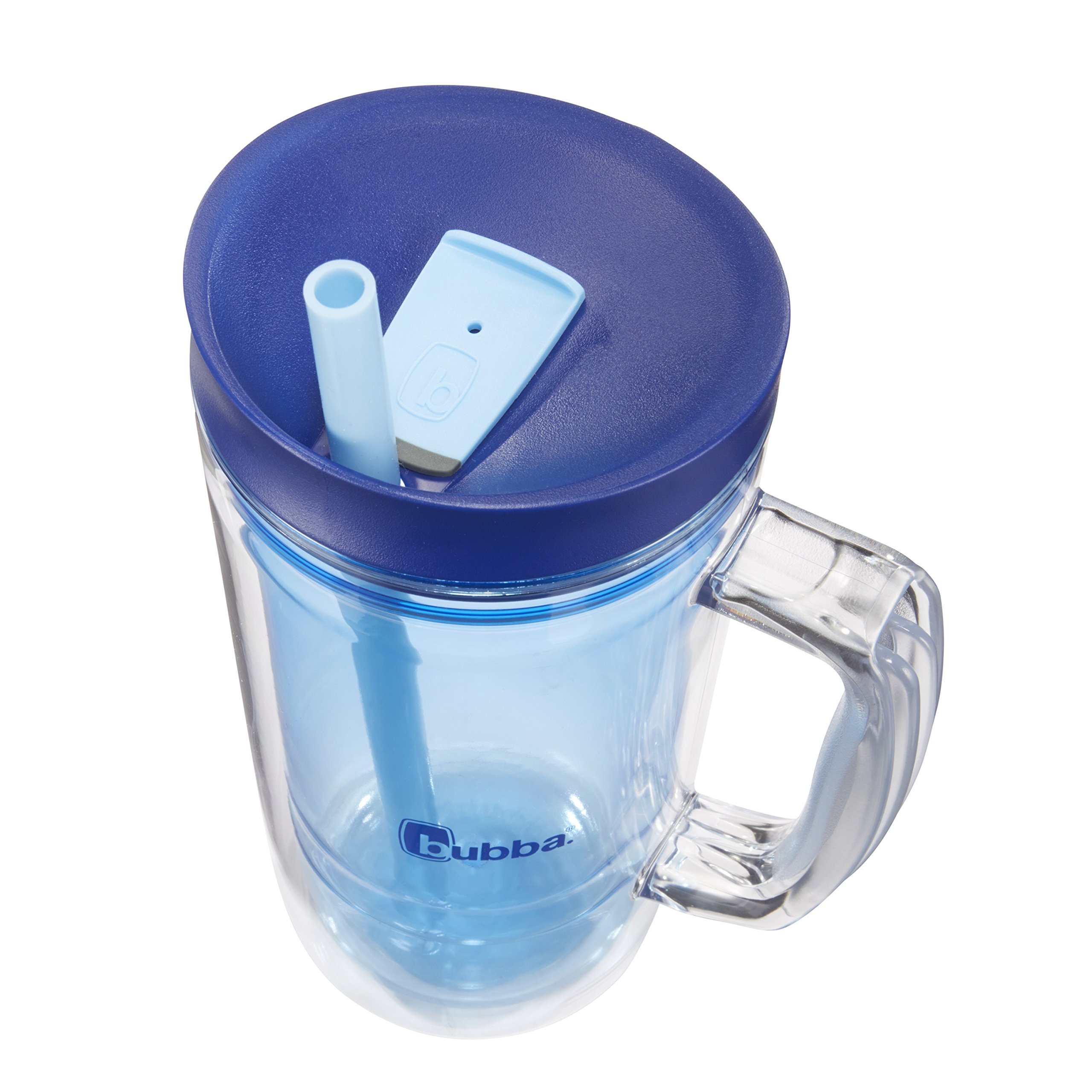 Bubba Envy Double Wall Insulated Straw Tumbler with Handle, 32 oz, Blue by BUBBA BRANDS (Image #2)