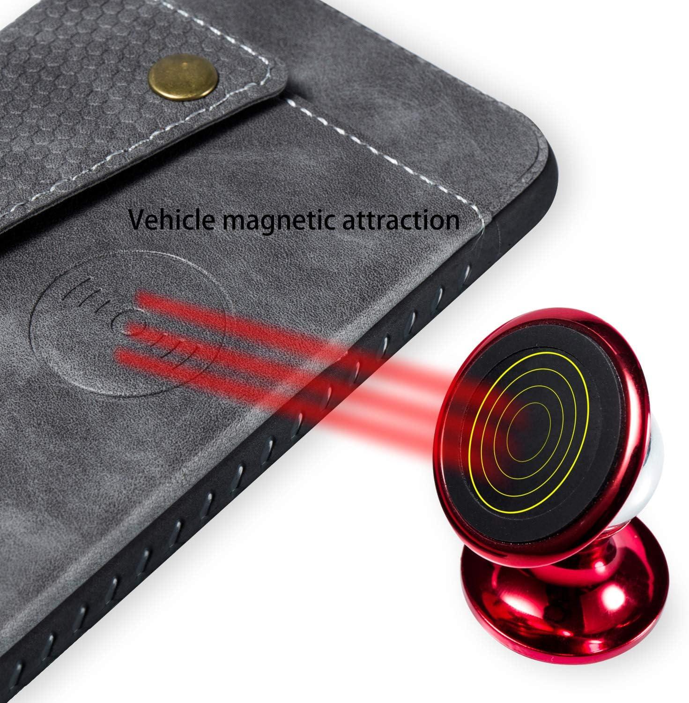 Shinyzone Custodia per Huawei P30 Lite,Portafoglio Tasca con Porta Carte,Flip Cover Posteriore in Pelle con Chiusura Magnetica Fibbia Supporto Magnetico Auto,Rosso