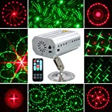 Jeteven Stage Laser Lights 12 Patterns LED Party Projector Spotlight with Wireless Remote Control Auto/Sound Activated for Disco DJ Clubs Bar Stage KTV Party