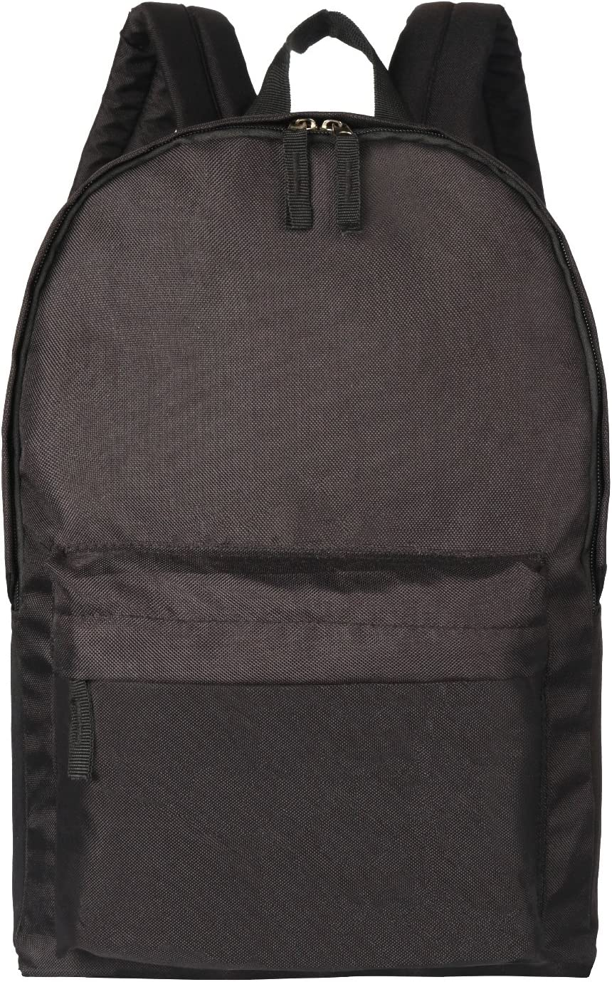 Amzbeauty Black School Bags for Elementary Middle School Students Backpack Organizer