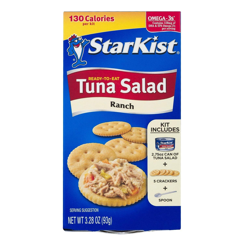 StarKist Ready-to-Eat Tuna Salad Kit, Ranch (Pack of 12)