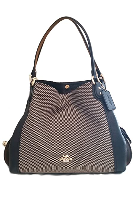 ba20a9b92e4 COACH Legacy Jacquard Edie 31 Medium Shoulder Bag (Black): Amazon.ca: Shoes  & Handbags