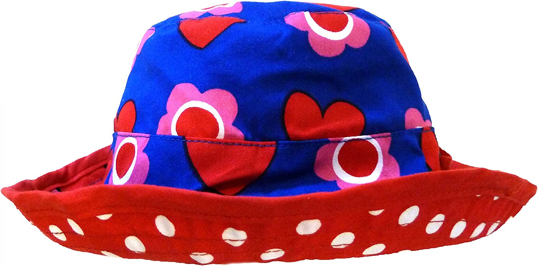 Toby Tiger Heart Flower Reversible Sun Hat