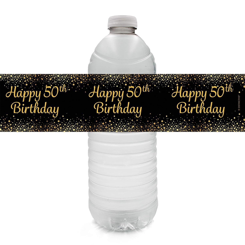 Amazon.com: Etiquetas para botellas de agua de 50 cumpleaños ...