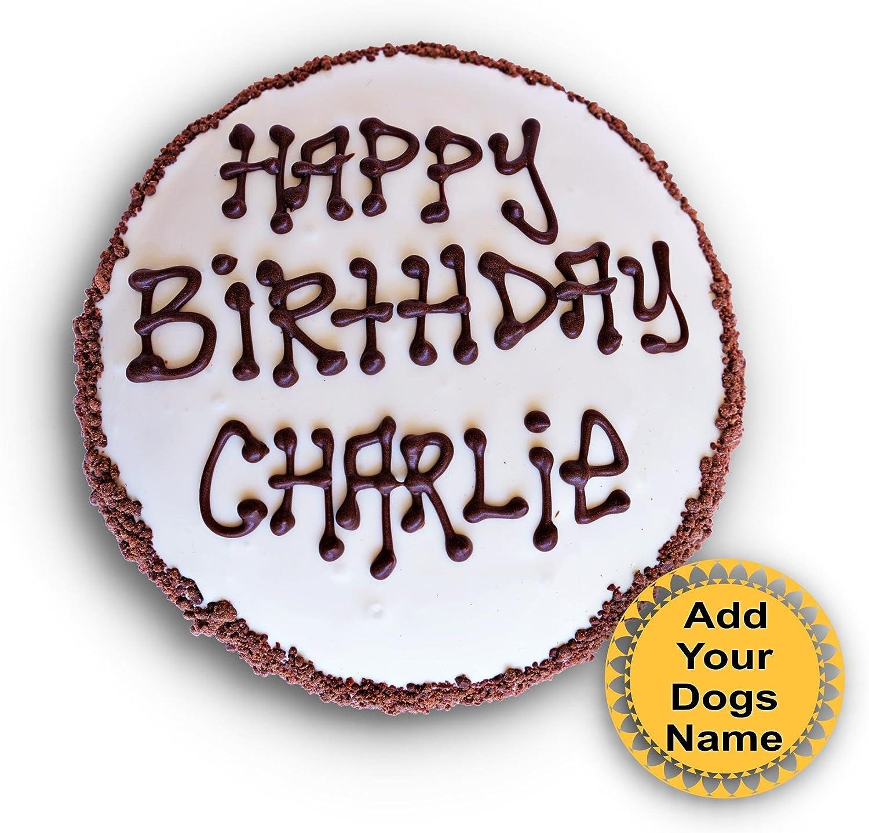 Swell Amazon Com Dog Birthday Cake Customize With Your Dogs Name Wheat Funny Birthday Cards Online Inifodamsfinfo