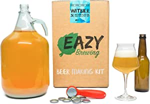 Eazy Brewing®Kit de elaboración de cerveza de 5 litros - Cerveza blanca belga - Witbier - Caja de regalo para preparar su propia cerveza artesanal – Instrucciones en Español: Amazon.es: Hogar