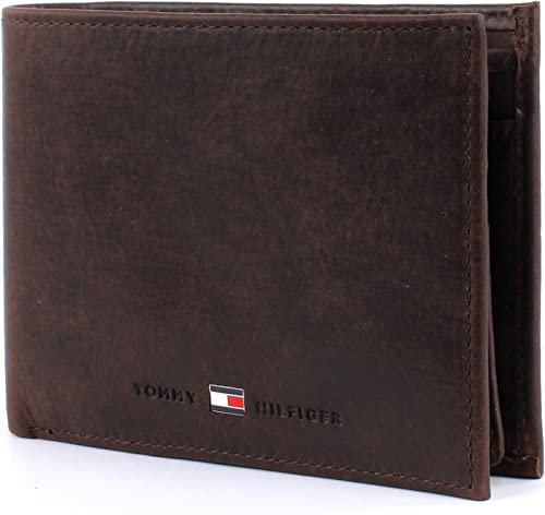 disparar ley golpear  Tommy Hilfiger Johnson CC flap and coin pocket, brown: Amazon.co.uk: Shoes  & Bags