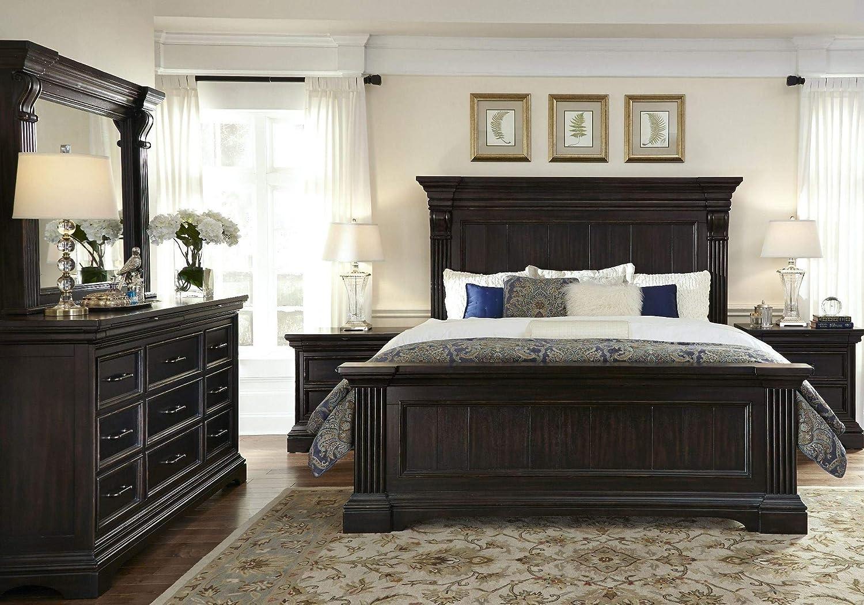 Amazon Com Pulaski Caldwell 6 Piece Panel Bedroom Set With
