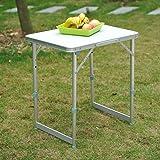 Outsunny Garden Outdoor Camping Table Portable Folding Picnic Table Aluminium Frame 60L x 45W x 65H (cm)
