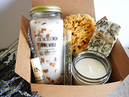Amazon Com Best Mom In The World Gifts Mom Birthday Gifts Spa Gifts Basket For Mom Mom Birthday Present Handmade