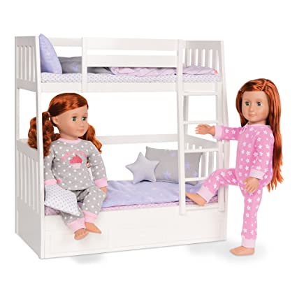 Amazon Com Our Generation Dolls Dream Bunk Bed Set Toys Games