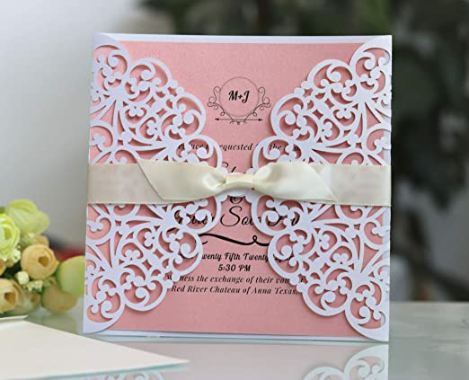 Hrain - Invitaciones de Boda de Color Rosa, Invitaciones ...