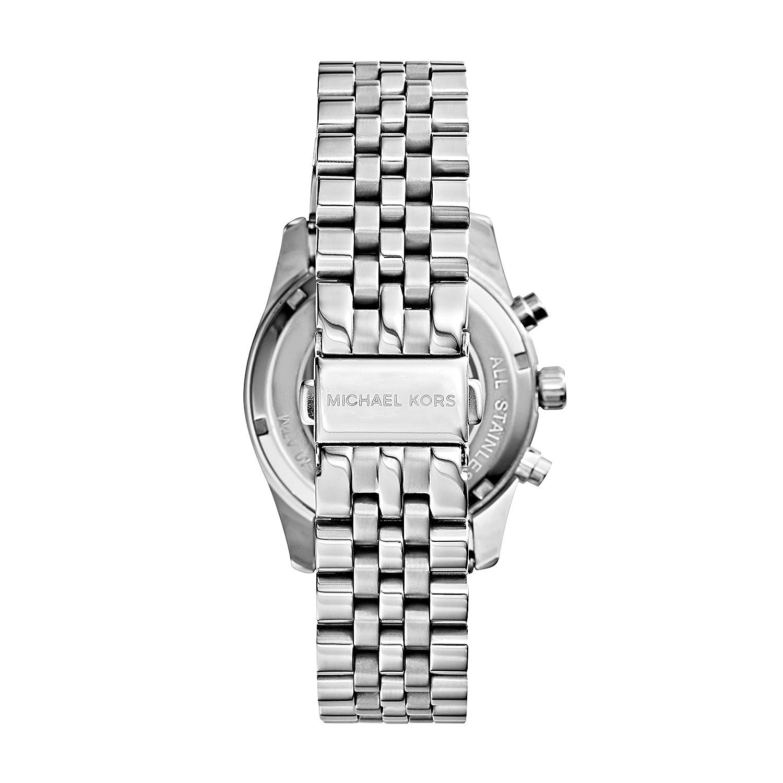 19abd4ee7c3a Amazon.com  Michael Kors Women s MK5555 - Vintage Classic Lexington  Chronograph Silver  Michael Kors  Watches