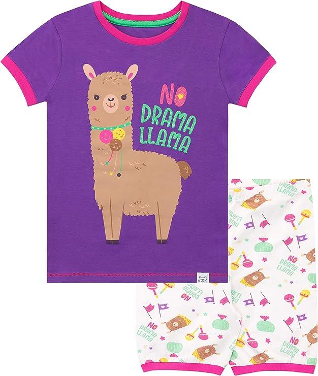 Bluezoo Kids Girls/' Aqua Llama-Corn Print Pyjama Set