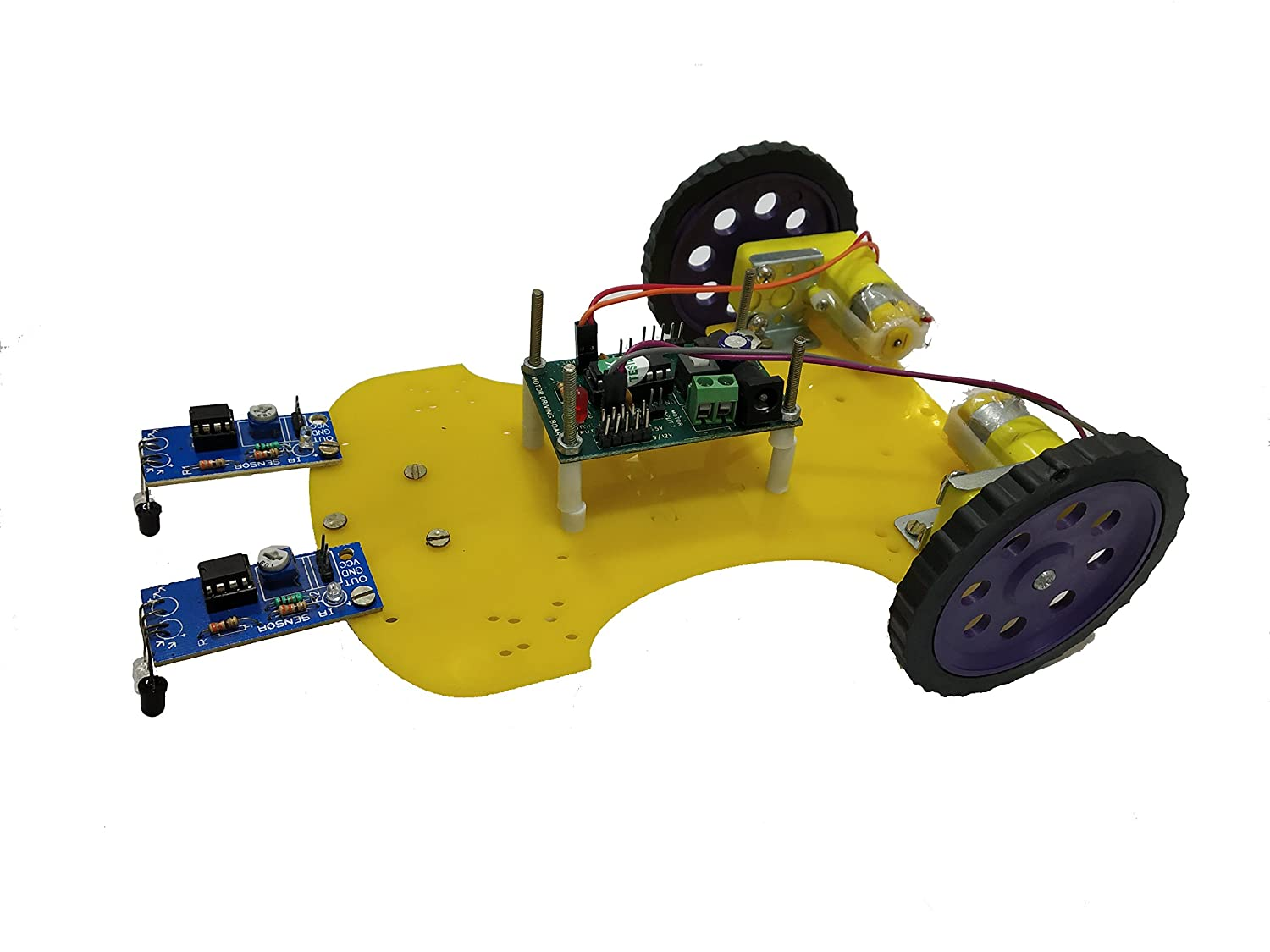 Embeddinator Pcb And Copper Line Follower Robotic Diy Kit Without Simple Following Robot Microcontroller Make Robots In Blue
