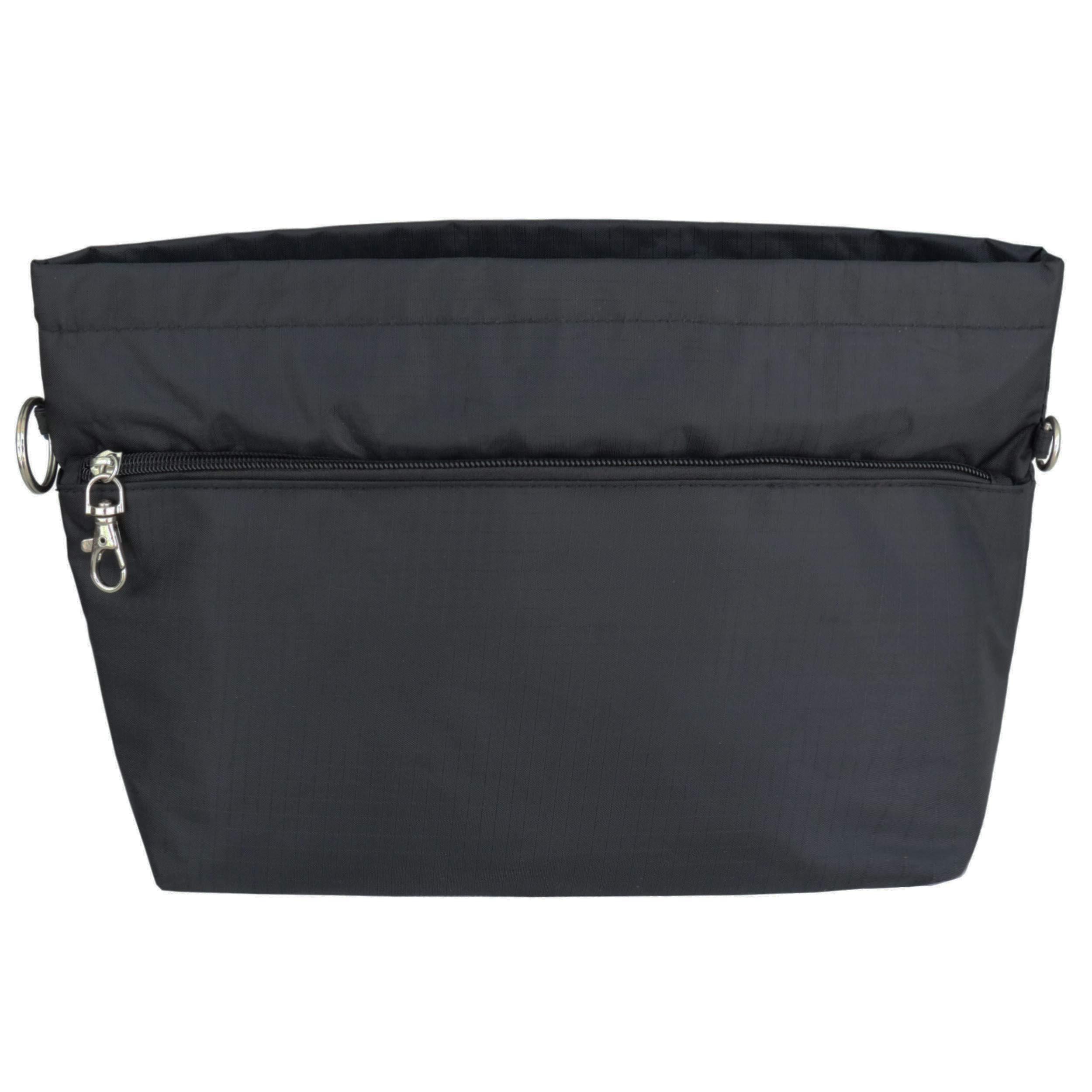 HyFanStr Handbag Organizer Insert Tote Zipper Clousure,Bag in Bag Fit Neverfull GM Black XL