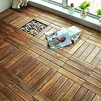 Holzboden Spleißboden Balkon Terrasse Außendekoration ...
