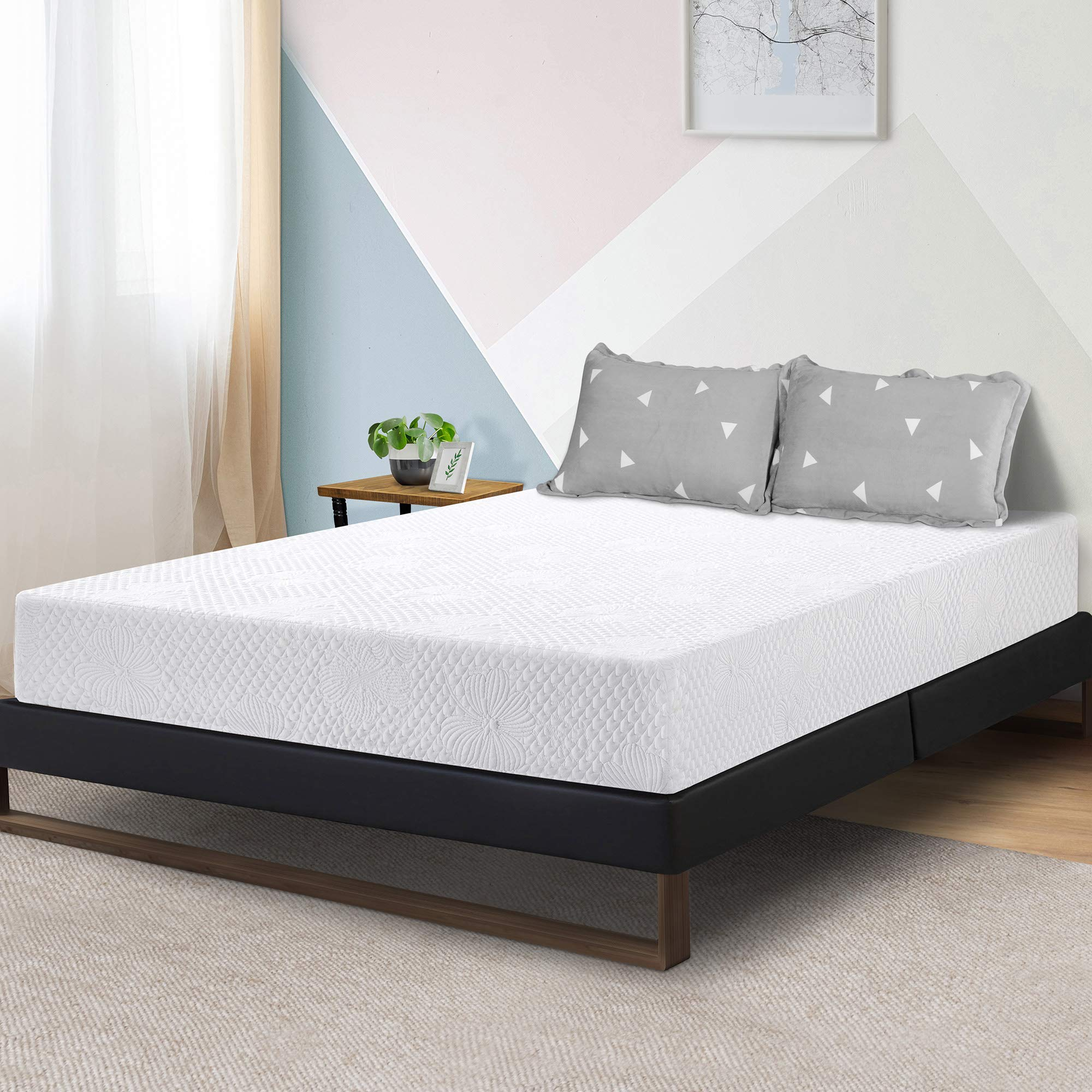 Olee Sleep 8-Inch Firm Ventilated Convolution Queen Memory Foam Mattress by Olee Sleep