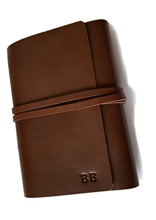 JoyToken® A6 Personalised Real Leather Refillable Notebook Cover ...