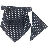 Classique Enterprises Men's Cravat with Pocket Square (Navy Blue, Standard)
